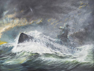 Graf Spee Enters The Indian Ocean Print by Vincent Alexander Booth