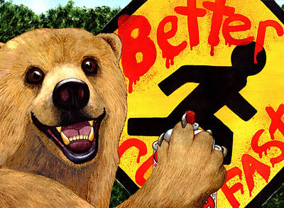 Graffiti Bear Original by Catherine G McElroy