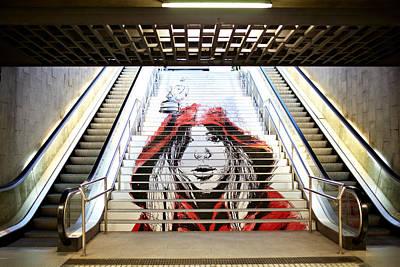 Loose Hair Photograph - Graffiti In The Metro. by Danil Roudenko