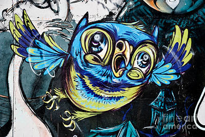 Graffiti Owl Print by Yurix Sardinelly