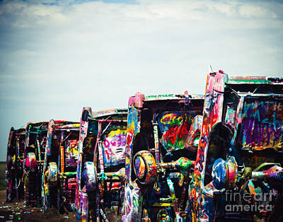 Amarillo Texas Photograph - Graffiti Tires by Sonja Quintero