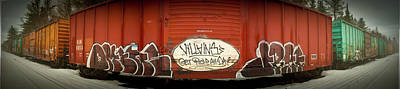 Graffiti Train Yard  Print by David  England