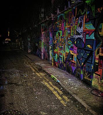 Tag Art Photograph - Graffiti Tunnel by Martin Newman