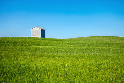Wheat Photograph - Barn Bin Sits Alone by Todd Klassy