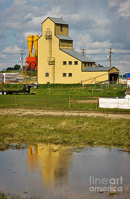 Grain Elevator In Balzac Alberta Print by Louise Heusinkveld