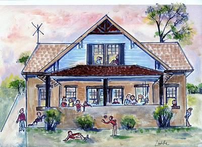 Gramma's House Print by Janet Lavida