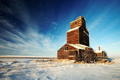 Snowscape Photograph - Granary Chill by Todd Klassy