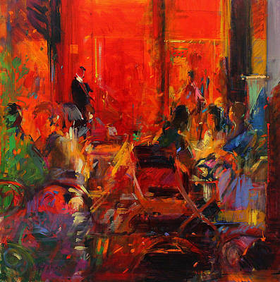 Dinner Painting - Grand Cafe  Ceret by Peter Graham