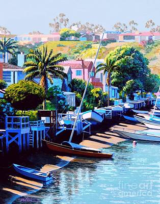 Grand Canal Balboa Island Print by Frank Dalton