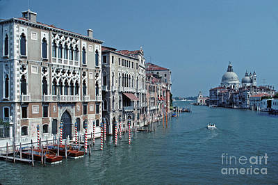 Photograph - Grand Canal From Accademia Bridge Tom Wurl by Tom Wurl