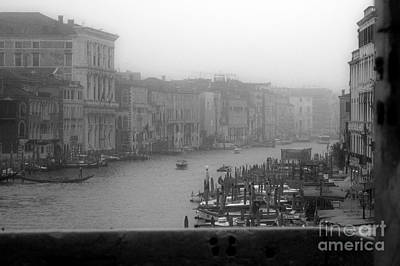 Grand Canal On A Foggy Morning Print by Prints of Italy