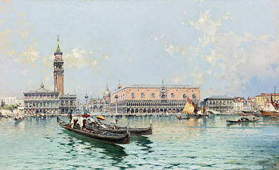 Painting - Grand Canal Venice by Franz Richard Unterberger
