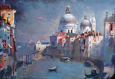 Grand Canal Gondola Painting - Grand Canal Venice by Ylli Haruni