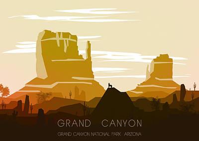 Grand Canyon 1 - By Diana Van Print by Diana Van