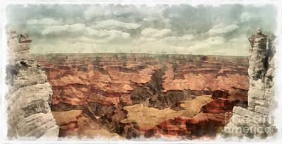 Grand Canyon Digital Art - Grand Canyon by Edward Fielding