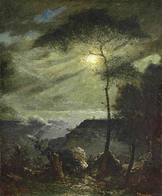 Elliott Daingerfield Painting - Grand Canyon. Moonlight by Elliott Daingerfield