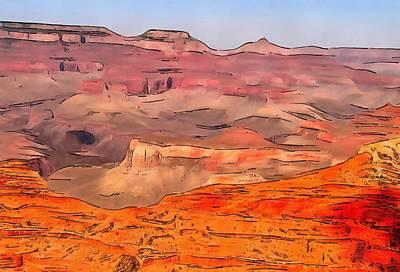 Grand Canyon Mixed Media - Grand Canyon National Park Summer by Dan Sproul