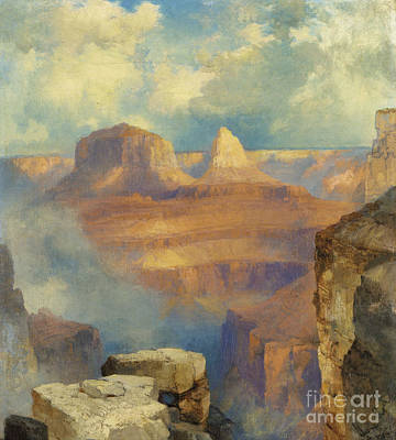 Ledge Painting - Grand Canyon by Thomas Moran