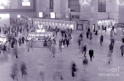 Photograph - Grand Central In Motion by Tom Wurl