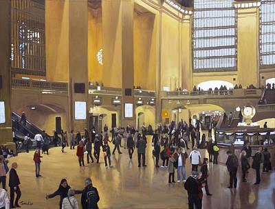 Grand Central Terminal Print by Linda Tenukas
