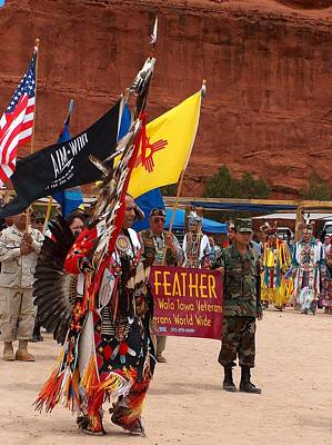 Grand Entry At Star Feather Pow-wow Print by Tim McCarthy
