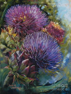 Flower Painting - Grand Finale by Debbie Harding
