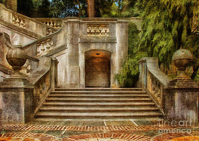 Grand Garden Staircase At Winterthur Print by Lois Bryan