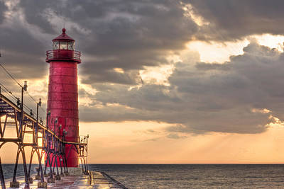Grand Haven Lighthouse Hdr Original by Jeramie Curtice