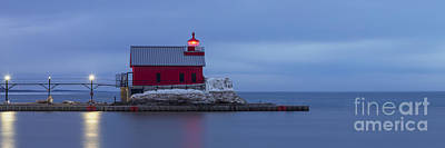 Grand Haven Outer Range Light Print by Twenty Two North Photography