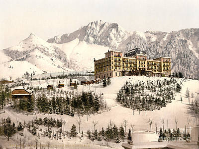 Snow Painting - Grand-hotel De Caux by Celestial Images