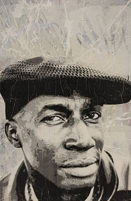 Misfits Mixed Media - Grand Master Flash by Dustin Spagnola