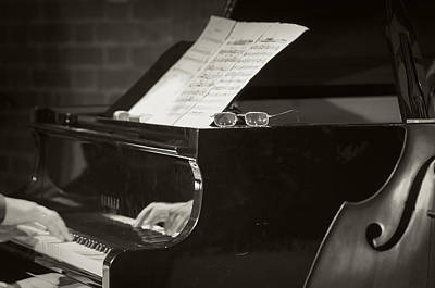 Jazz Band Photograph - Grand Piano And Music Notes by Konstantin Sevostyanov