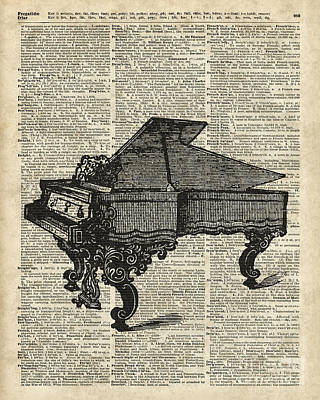 Ikon Drawing - Grand Piano by Jacob Kuch