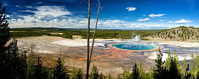 Yellowstone Digital Art - Grand Prismatic Spring by Adele Buttolph