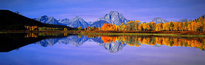 Grand Tetons And Reflection In Grand Print by Panoramic Images