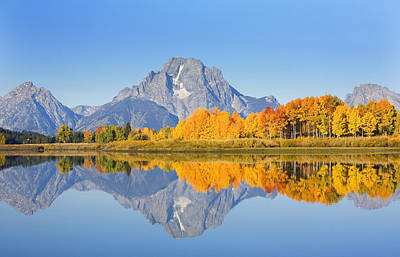 Location Art Photograph - Grand Tetons In Autumn by Ron Dahlquist - Printscapes