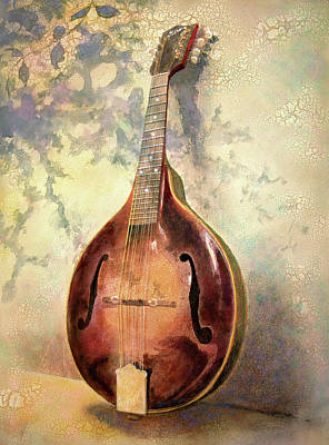 Mandolin Painting - Grandaddy's Mandolin by Andrew King