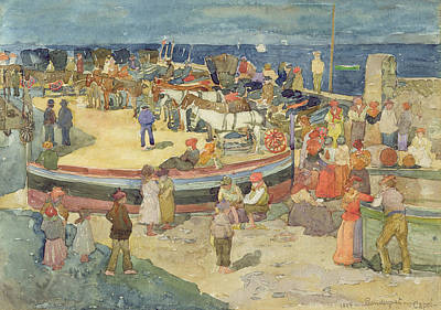 Donkey Watercolor Painting - Grande Marina  Capri by Maurice Brazil Prendergast