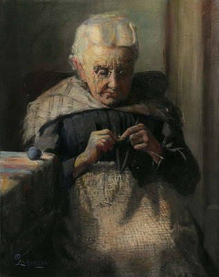 Grandma Print by Lewis A Ramsey