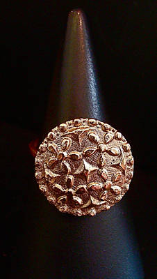 Pmc Jewelry - Grandma's Button Ring by Cydney Morel-Corton