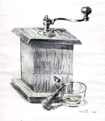 Grandma's Coffee Grinder Print by Dale Turner