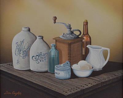 Grandma's Jars Print by Don Engler
