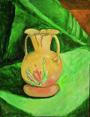 Over Hang Painting - Grandmas Vase 1 by R Allan Lister