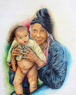 Painting - Grandmother by Fine art Photographs