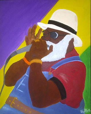 Mardi Gras Painting - Grandpa Elliott by Michele Moore