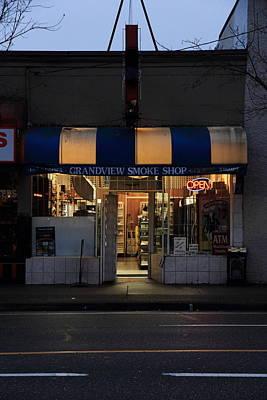 Urban Photograph - Grandview Smoke Shop by Kreddible Trout