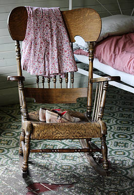 Rocking Chairs Photograph - Grannys Stories  by JC Photography and Art