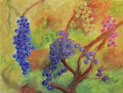 Grape Collage Print by Ken Figurski