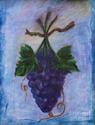 Grapes Print by Elena Fattakova