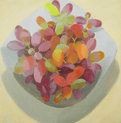 Restaurant Grape Painting - Grapes by Mary Mabbutt